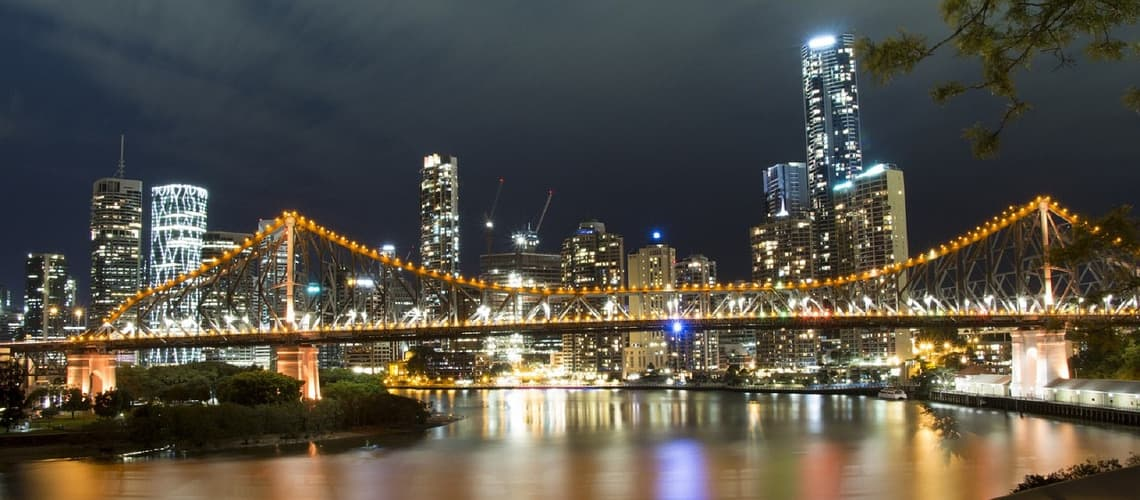 Story Bridge in Brisbane bei Nacht