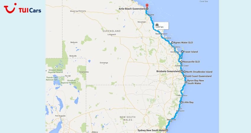 australien karte ostküste Ostküste Australiens • 10 Hotspots für Ihren Roadtrip australien karte ostküste
